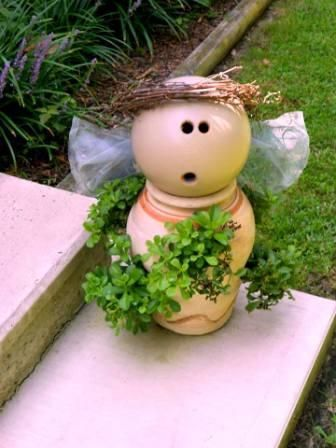 Angels in the Flea Market garden | Flea Market Gardening