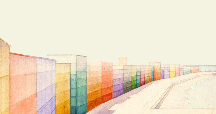 Piero Bottoni  Kustlijn in kleuren