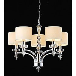 Me Likey!!!  @Overstock - This stylish chandelier features a striking chrome finish with beige fabric shades. This chandelier includes a 40-inch chain for added versatility.http://www.overstock.com/Home-Garden/5-light-Chrome-Chandelier/5133490/product.html?CID=214117 $214.99