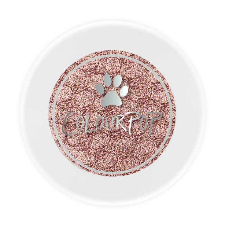"""Colourpop Cat Nap Holiday 2016 - Shadows & Pigments  Icy rose gold drizzled with pink and silver glitter in a metallic finish  All proceeds from the sale of """"Kitty Love"""" will be donated to Best Friends Animal Society(R) and their NKLA effort to Save Them All®"""