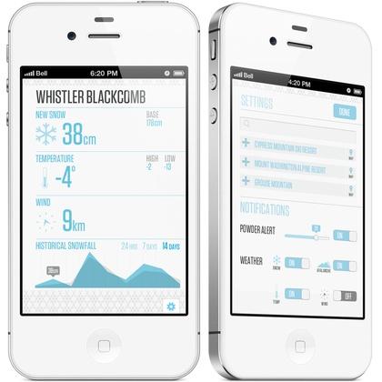 Snow Report App by Aaron De Simone