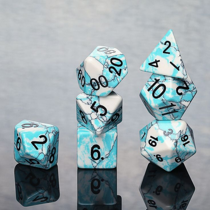 Discover all the details about the Blue Turquoise Stone Polyhedral Dice Set and learn about the best TCG products from the Hobby Shop enthusiast community on Massdrop.