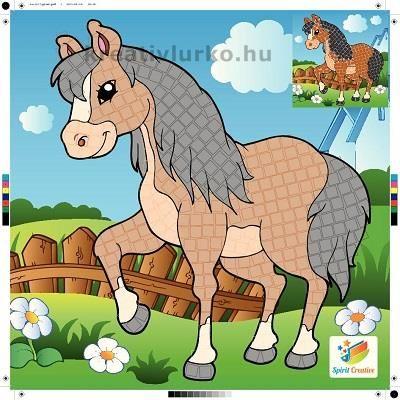 Ló mozaik kirakó  www.kreativlurko.hu