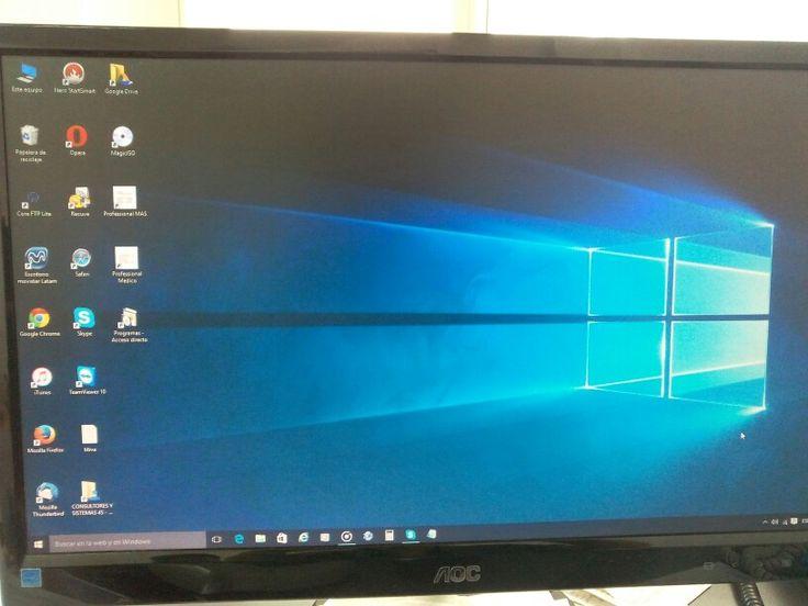 Escritorio en Windows 10