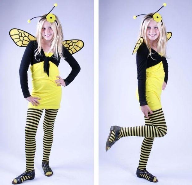 Kostümideen für Kinder am Fasching-Biene Maja-Kopf-Accessoires und Flügel basteln