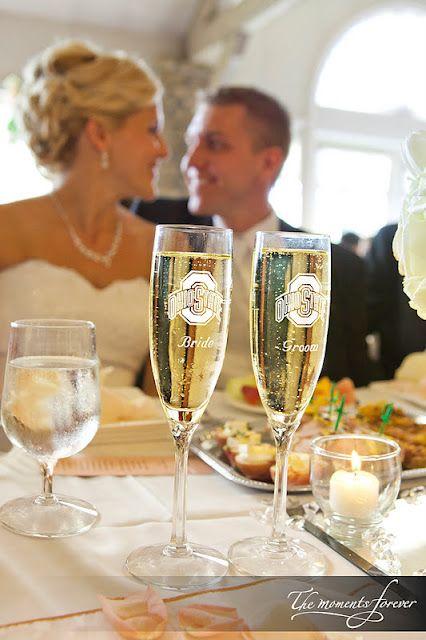 Ohio State champagne glasses