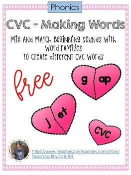 Students will mix and match different beginning sounds to short vowel word families to create CVC words. Students may record words they make on the recording sheet provided. This product can be used many different ways! To use in guided instruction, you can focus on a certain word family or