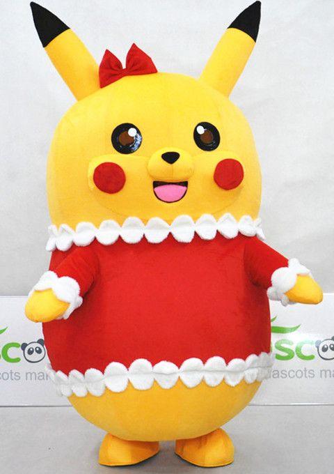 Deguisement Mascotte Costume Pikachu Noël Pokemon Adulte Cartoon Japonaise Pokémon GO
