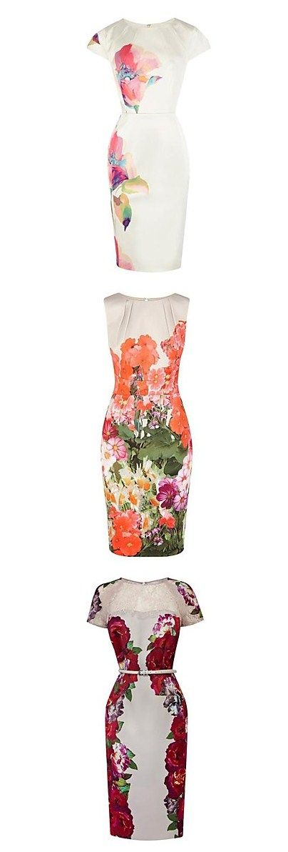 Pretty floral graphic prints on pencil dresses are absolutely amazing! So chic and understated to keep it classy/ Click for more styles!