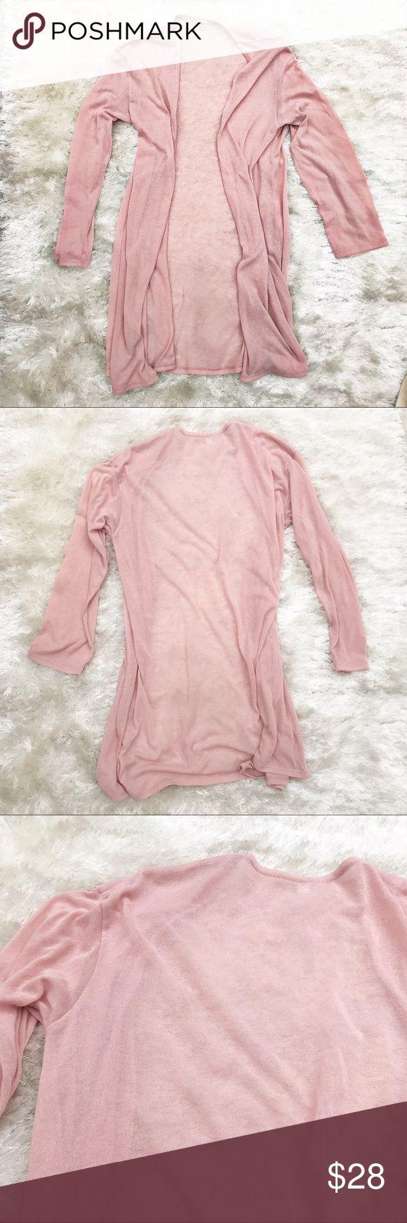 UNIQLO Blush Open Front Cardigan Blush Rose Open Front Cardigan by Uniqlo. Flowy, long cardigan in on-trend color. Size medium. Uniqlo Sweaters Cardigans