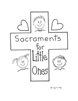 Great introduction to all seven Sacraments - Baptism,  Eucharist, Confirmation, Reconciliation, Annointing of the Sick, Marriage, and Holy Orders.  Students can trace over letters and color symbols.Also includes a booklet cover page.