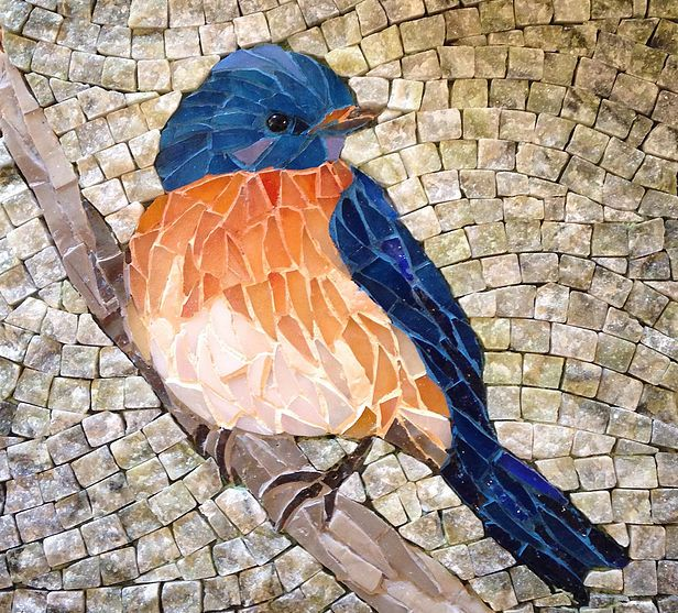 Stunning mosaic art in glass and marble
