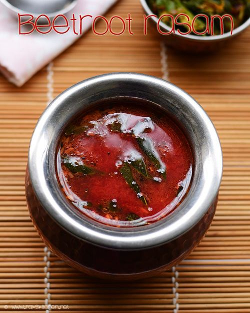 Rasam with beetroot, interesting right? Healthy and tasty too!