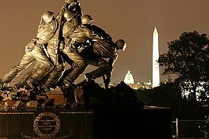 The United States Marine Corps War Memorial (Iwo Jima) stands as a symbol of this grateful nation's esteem for the honored dead of the U.S. Marine Corps.