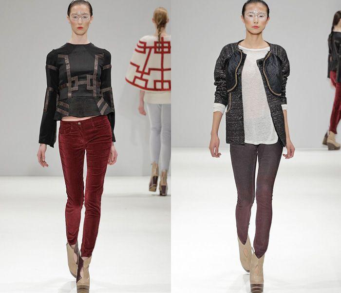 (3) Ji Cheng - London Fashion Week - Denim & Jeanswear 2013-2014 Fall Winter Womens Runways II