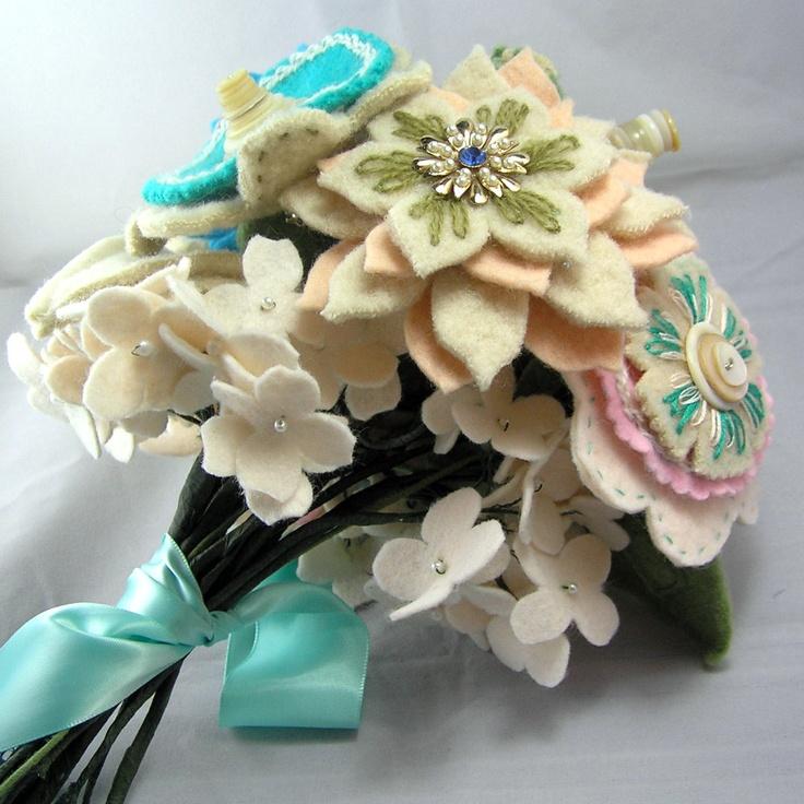 95 best Bridal bouquet images on Pinterest | Felt flowers, Wedding ...