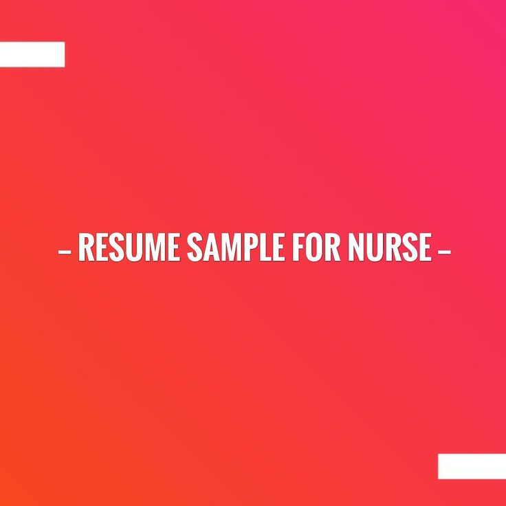 New on my blog! Resume Sample for Nurse http://learn.jobisite.com/resume-sample-nurse/