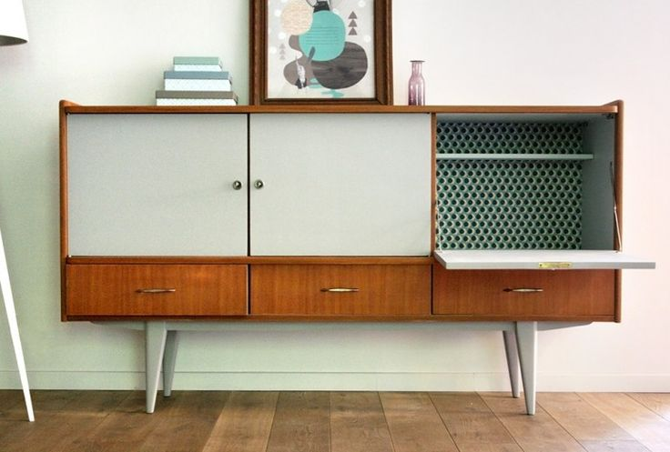 Enfilade scandinave les jolis meubles meuble vintage for Customiser un meuble bureau