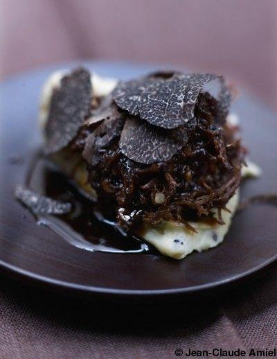 Parmentier de queue de bœuf et truffe noire #plating #presentation