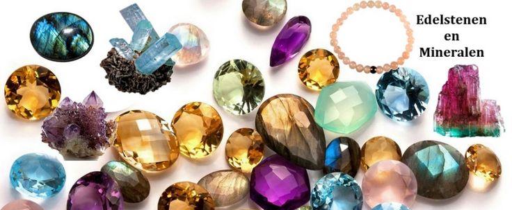 Edelstenen en mineralen winkel - getrommelde en ruwe stenen