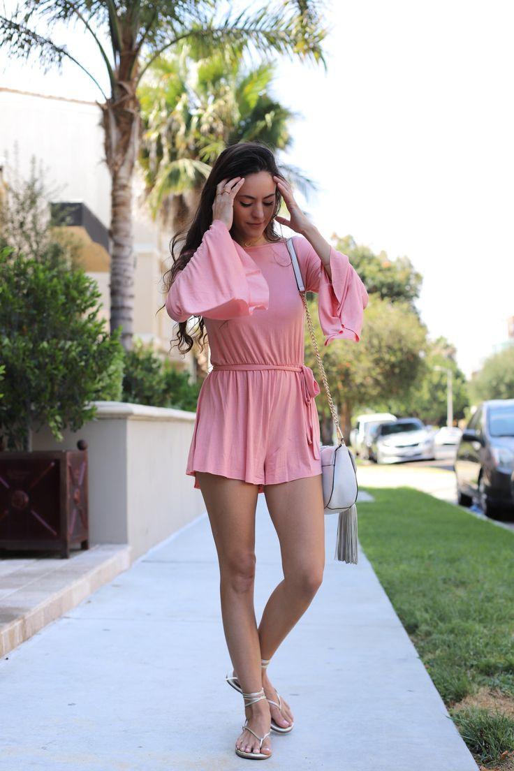 Clayton Georgina Romper - Quartz, backless romper, bell sleeves, bell sleeve romper, los angeles, la style, summer style, cute romper