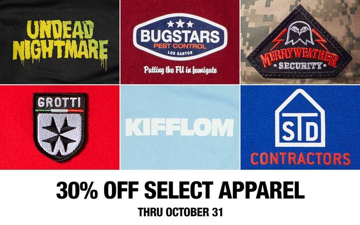 Rockstar Games Social Club - Rockstar Warehouse Halloween Sale: 30% Off GTAV RDR GOTY Edition Select Apparel and More #GrandTheftAutoV #GTAV #GTA5 #GrandTheftAuto #GTA #GTAOnline #GrandTheftAuto5 #PS4 #games