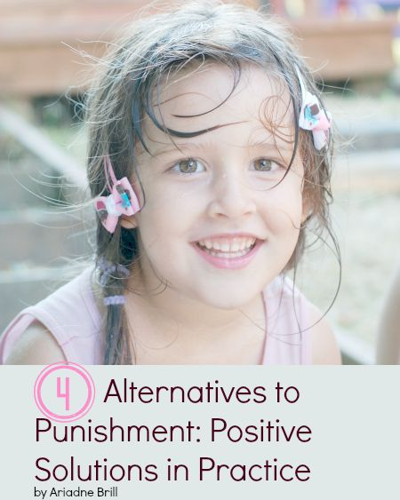 4 Alternatives to Punishment via Positive parenting connection. Great advice! The goal of parenting is to *teach* your kids, not *control* them!