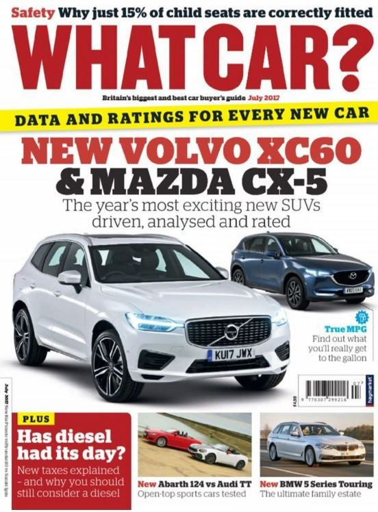 In this issue:    Data and ratings for every new car    New Volvo XC60 & Mazda CX-5 - The year's most exciting new SUVs driven, analysed and rated    Safety - Why just 15% of child seats are correctly fitted    True MPG - Find out what you'll really get to the gallon    New Abarth 124 vs Audi TT - Open-top sports cars tested    New BMW 5 Series Touring - The ultimate family estate    PLUS- has diesel had its day? New taxes explained - and why you should still consider a diesel         &