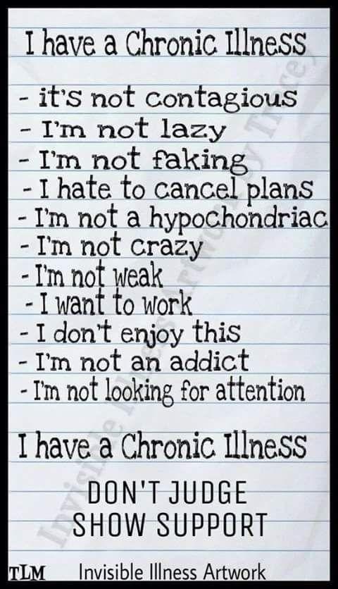 I have a chronic illness... Chronic Migraines