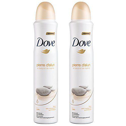 Dove Déodorant Femme Spray Pierre D'Alun Karité 200ml: Ato Pierre Alun Beurre de Karité Dove Pierre d'alun et beurre de karité offre…