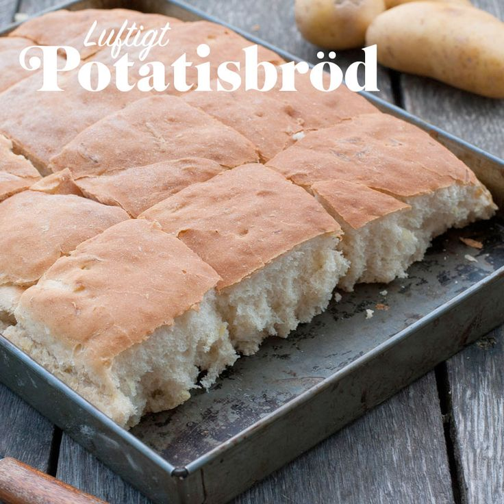 Baka ett luftigt och lätt bröd i långpanna med riven potatis.