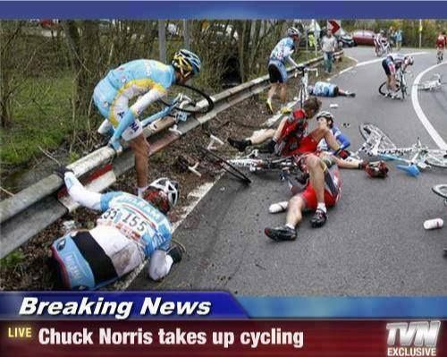 Chuck Norris Takes Up Cycling | Funny Cycling Picture | Cycling Humor