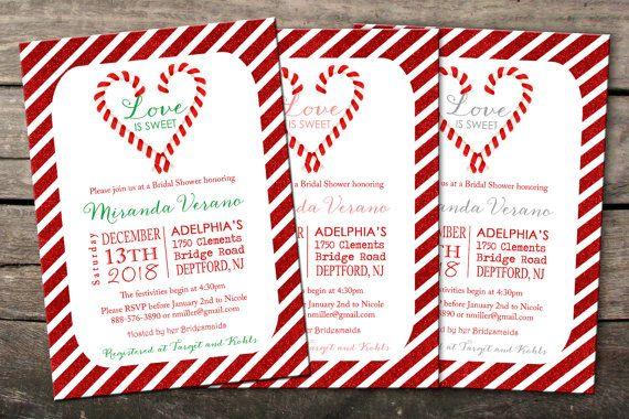 Printed or Digital Christmas Bridal Shower by SavannahsMemories