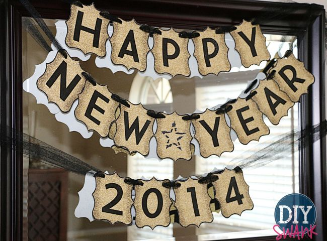 happy new year banner free printable diy home decor pinterest free printables happy new year banner and new year banner