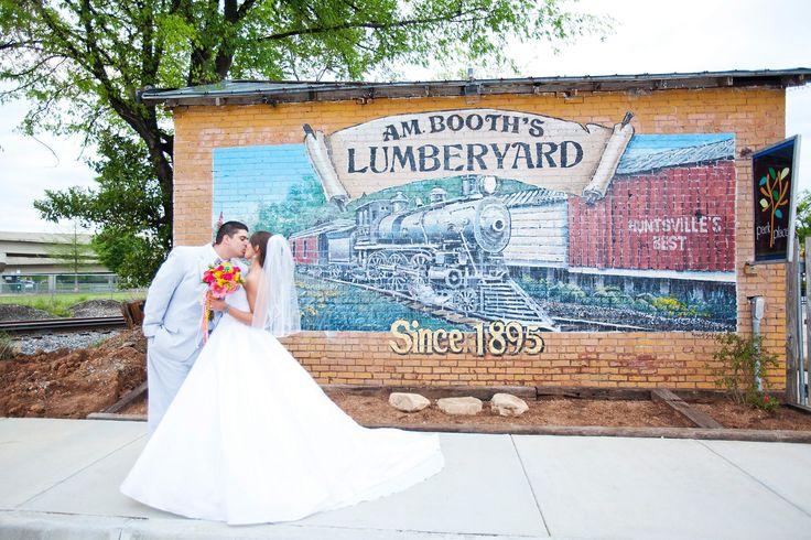 Am booth39s lumberyard in downtown huntsville getting for Wedding invitations huntsville al