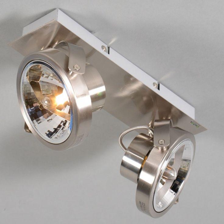 Spot go 2 staal van lampenlicht - opbouwspot voor nachthal