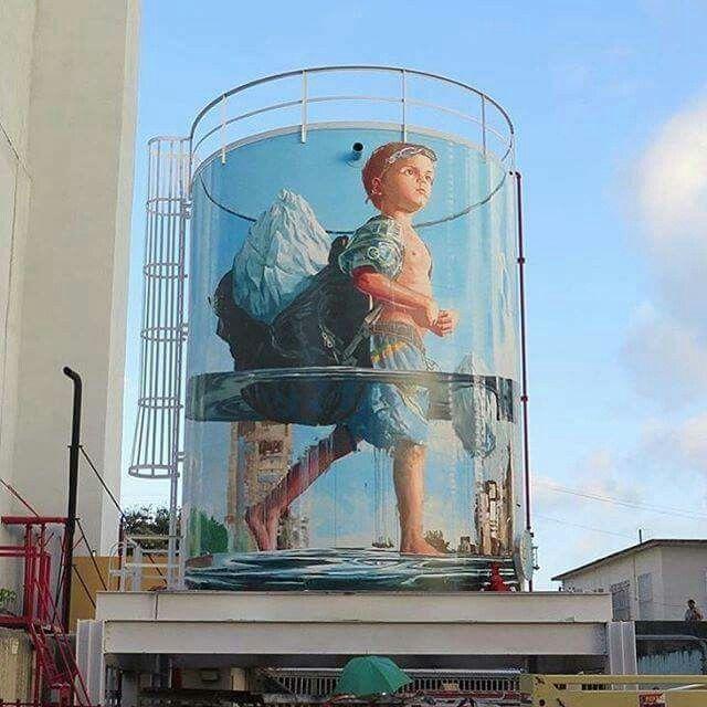 Glass Half Full by Fintan Magee, San Juan Porto Rico