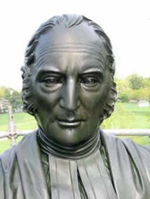 Statue of Thomas Brownell (1779-1865), Bishop of the Episcopal Diocese of Connecticut and founder of Trinity College.