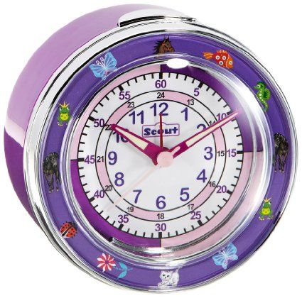 Scout Mädchen-Wecker Analog Quarz 280001014: Amazon.de: Uhren