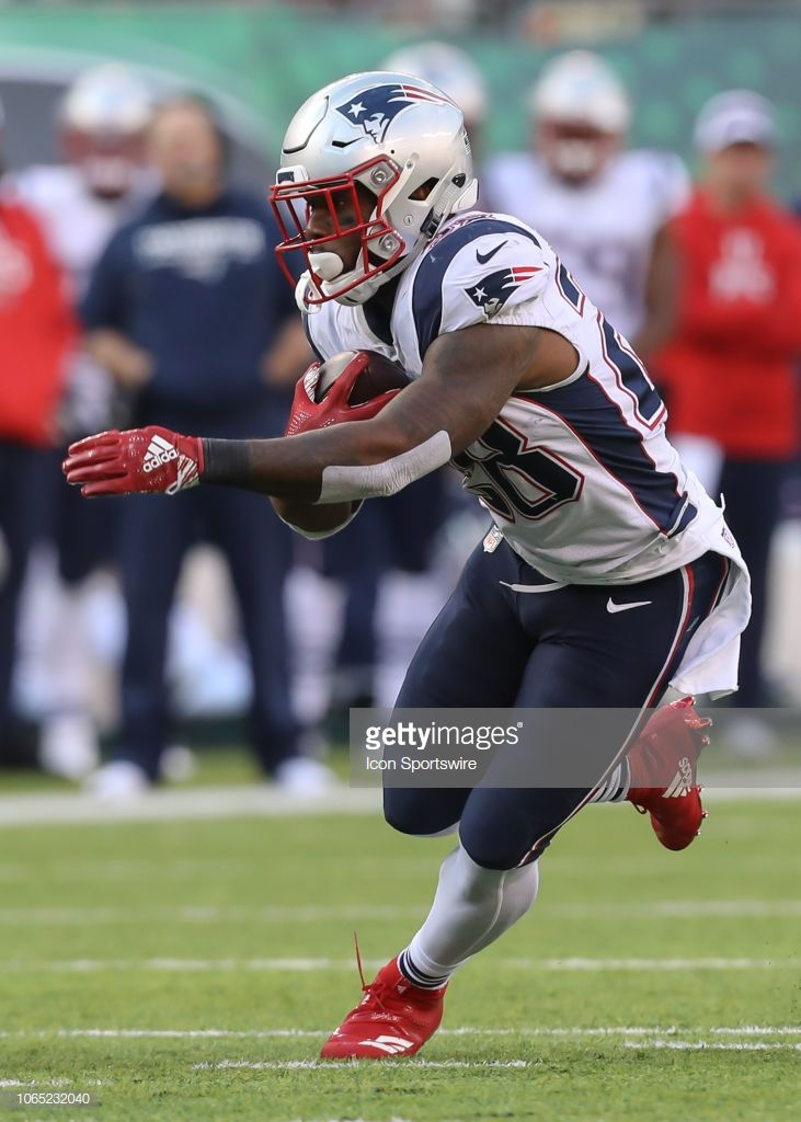 New England Patriots Running Back James White Runs With The Ball New England Patriots American Football League James White