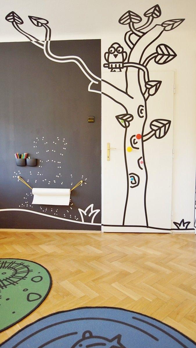 Kresbička na stene