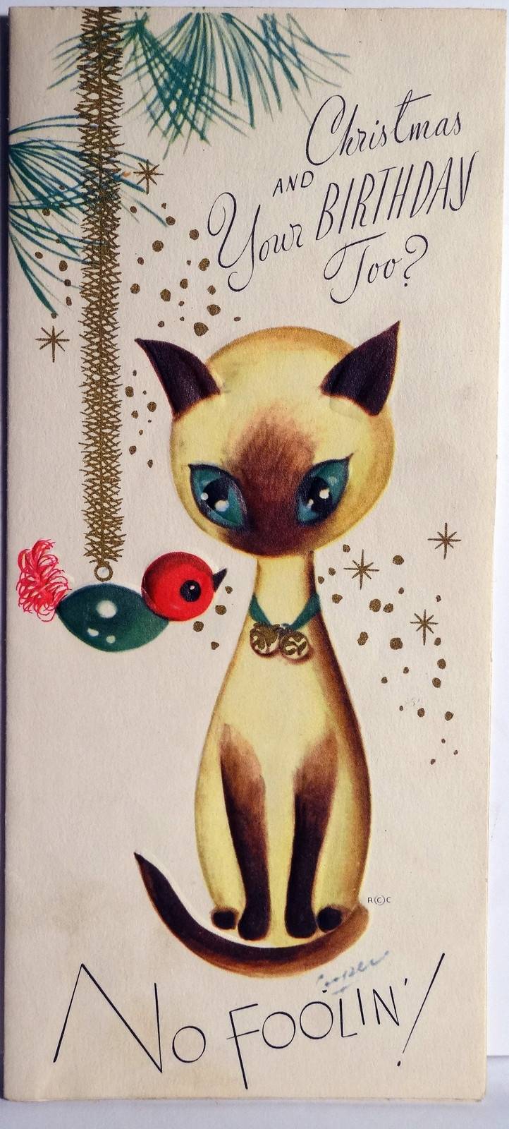 55 best images about Christmas Siamese – Christmas Birthday Card