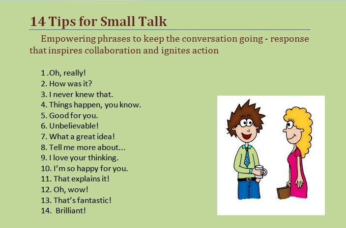 14 Tips for small Talk