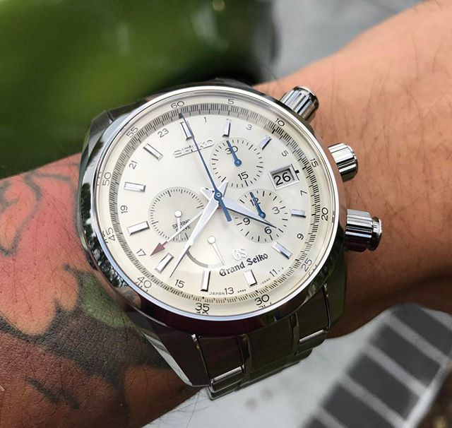 REPOST!!!  Serious Beast!  #grandseiko #seiko #seikowatches #seikojapan #springdrive #chronograph #japan #madeinjapan #watch #watches #watchesofinstagram #wristporn #wristwatch #wristwatches #wornandwound #tattoo #tattoos #wristtattoo #watchfam #watchco