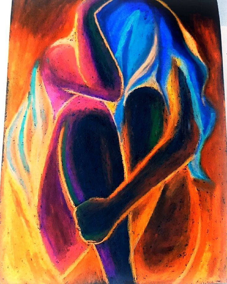 """BURN""   Oil pastels drawing.. on negative filter.  (ctto of the original design)"