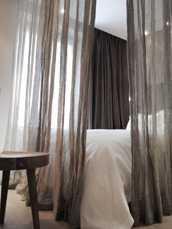 42 best nyc studio curtains around bed images on pinterest bedroom ideas master bedrooms and. Black Bedroom Furniture Sets. Home Design Ideas
