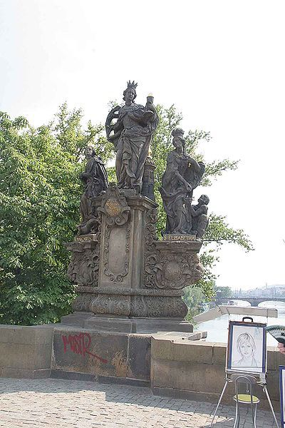 Sousoší tří světic pro Karlův most / F.M. + M.J.J./1707