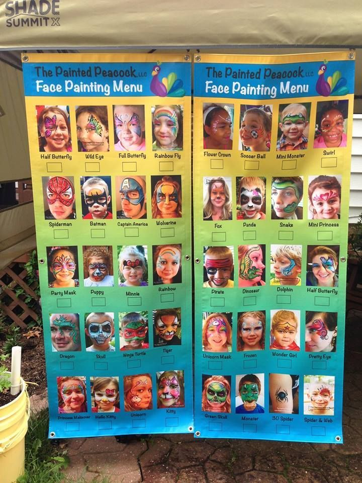 """The Painted Peacock LLC. uses eSigns.com! Check out their totally awesome review: """"I am VERY pleased with the three banners I just received from eSigns for my face painting business. All three are high quality, beautifully colored, and they came sooo fast! Thank you!""""-Annie C. #facepaintingbusiness"""