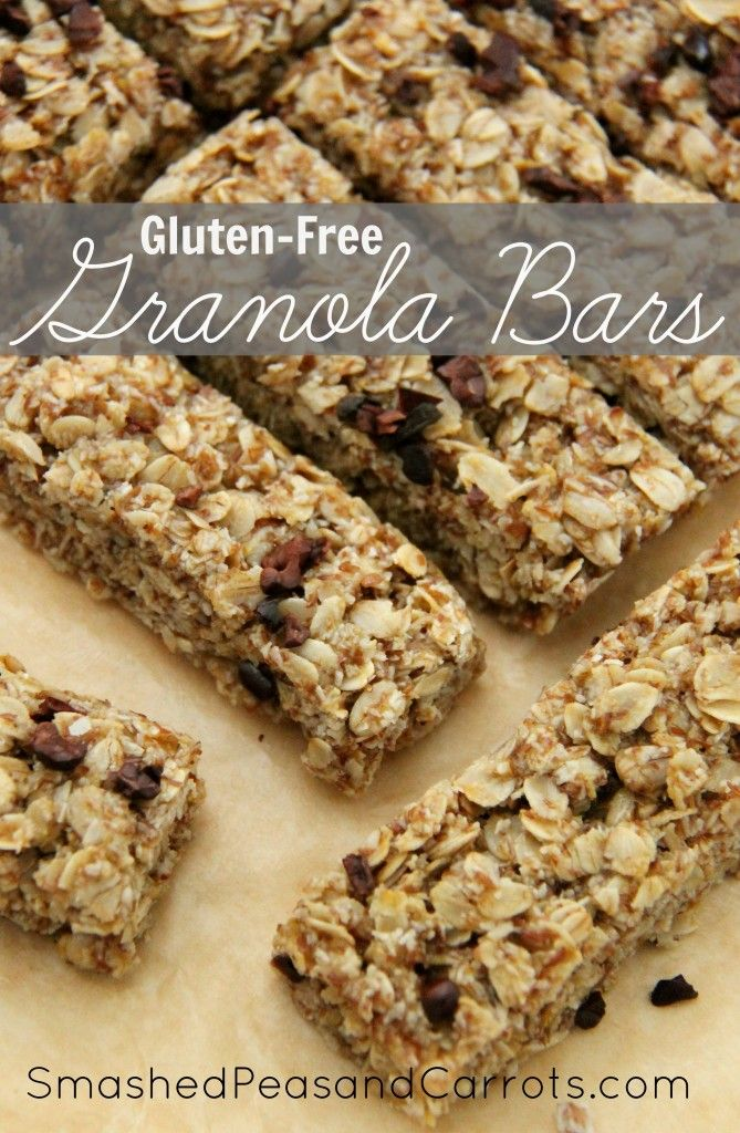 Gluten-Free Chewy Granola Bar Recipe - Smashed Peas and Carrots