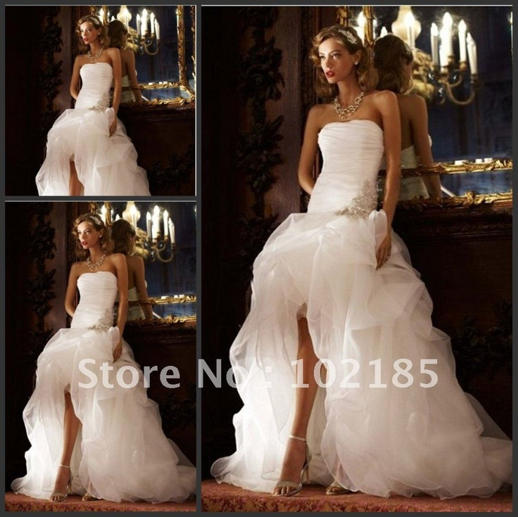 $125 !!! Free Shipping New Style 2012 Strapless Beaded Ball Gown Front Short and Long Back Wedding Dress And Wedding Dress 2012 Bridal on AliExpress.com. 10% off $125.99
